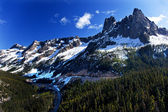 Bell Snow Mountain Washington Pass Roadway July Summer North Cas — Stock Photo