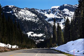 July Snow Mountain Washington Pass North Cascades National Park — Stock Photo