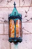 Yale university porta velha lâmpada de metal — Foto Stock