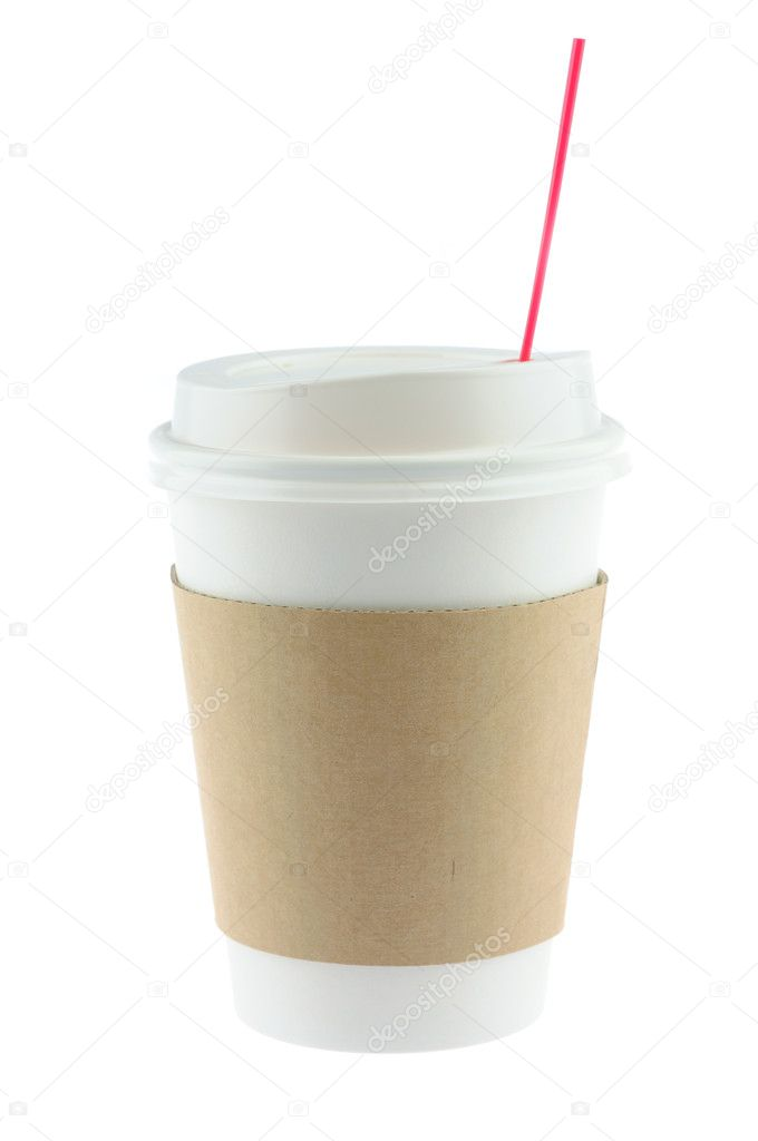 Disposable coffee cup in isolated white background  Stock Photo #11747488