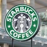 Starbucks Coffee sign — Stock Photo