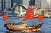 Chinese sailing ship — Stock Photo