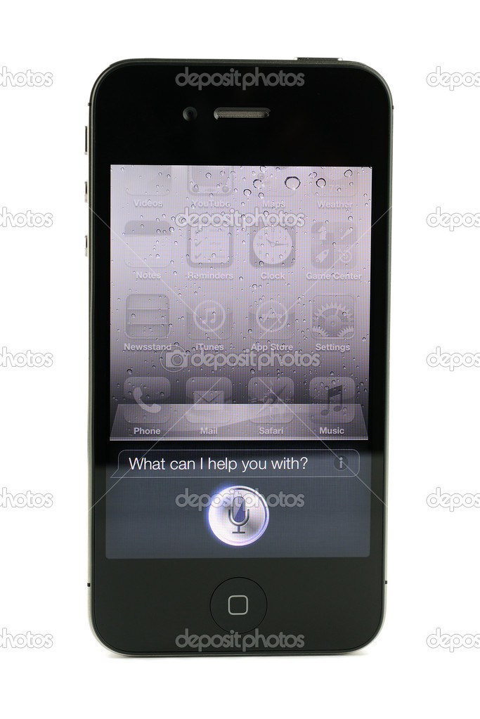 Apple iphone 4s Siri, isolated in white background — Stock Photo #11988856