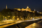 Royal Palace, Budapest in the evening — Foto Stock