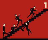 Concurso empresario escalera — Vector de stock