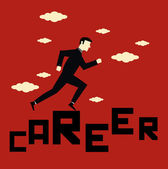 Businessman Career — Stock Vector