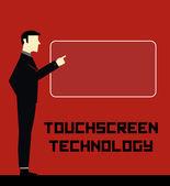Businessman Technology — Stock Vector