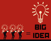 Businessman Big Idea — Vetorial Stock