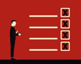 Businessman list — Stock Vector