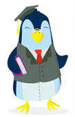 Penguin Study — Vector de stock
