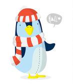 Penguin xmas — Stock Vector