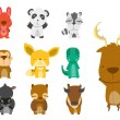Forest Animal Set — Imagen vectorial