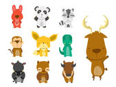 Conjunto animal forest — Vector de stock