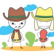 Cowboys — Stock Vector