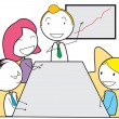 Stock Vector: Meeting