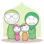 Moslem family — Stock Vector