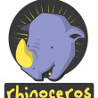Rhinoceros - Stock Vector