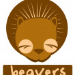 Beavers — Vector de stock #11972514