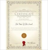 Illustrazione vettoriale del certificato dettagliato — Vettoriale Stock