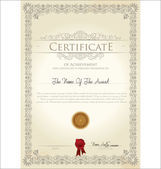 Vector illustration of detailed certificate — Stock vektor
