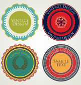 Vintage stickers en labels — Stockvector