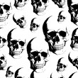 Royalty-Free Stock Imagem Vetorial: Skull seamless background