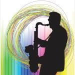 Jazz musician — Stock Vector