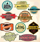 Vintage Labels Collection - Best Quality — Vector de stock