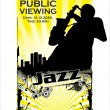 Jazz poster — Vector de stock #11467991
