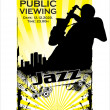 Jazz poster — Stock Vector