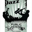 Jazz musicisilhouettes — Vector de stock #11469713