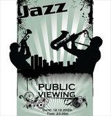 Siluetas de músico de jazz — Vector de stock
