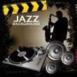 Jazz background — Vettoriali Stock