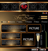 Elegant website template — Stock Vector