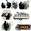 Grunge Jazz banners — Stock Vector