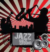 Jazz musician silhouettes — Stock Vector