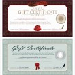 Vector Gift Certificate And Ornaments - Stock Vector