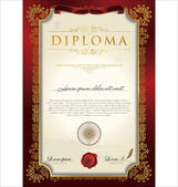 Certificate Or Diploma Template — Stock Vector