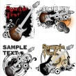 Grunge music banner set — Stock Vector #11742827