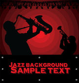 Abstract Jazz music background — Stock Vector