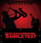 ジャズ音楽の抽象的な背景 — ストックベクタ