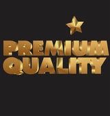 Premium quality 3d golden text — ストックベクタ