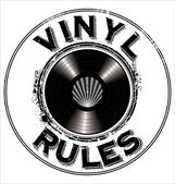 Vinyl rules background — Stock Vector