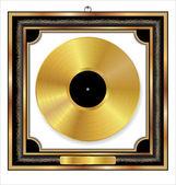 Gold Vinyl Dics Award — Stock Vector