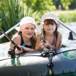 Fishing girls — Stock Photo