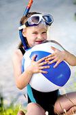 Snorkeling girl — Stock Photo