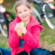 Eating girl - Stockfoto