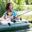 Stockfoto: Fishing girls