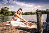 O yoga — Fotografia Stock