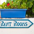 Foto Stock: Rent rooms sign